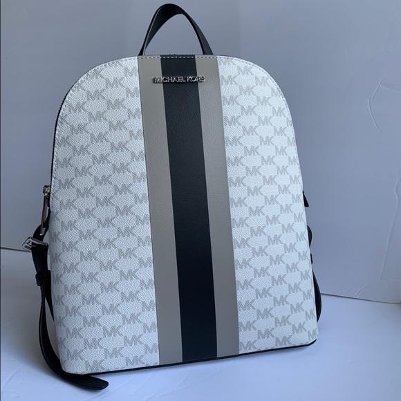 Michael Kors Handbags - Michael Kors Center Stripe Cindy Large Backpack